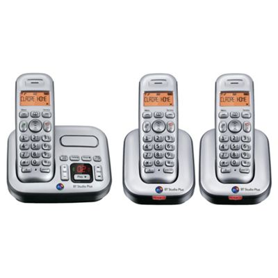 BT Studio 4500Plus Single Cordless Phone Trio