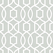 NuWallpaper Grand Trellis Peel And Stick Wallpaper - Grey NU1421