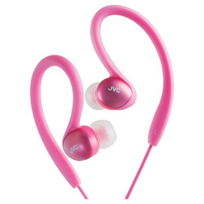 JVC Splash Proof Sports Ear Clip Headphones Pink