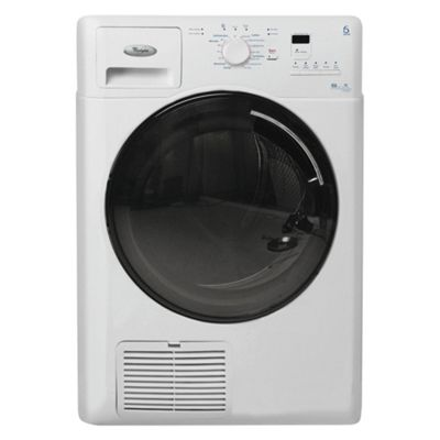 Whirlpool AZB8680 Condenser Tumble Dryer, 8kg Load, B Energy Rating. White