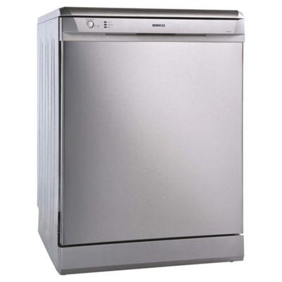 Beko DSFN1530S Fullsize Dishwasher, A Energy Rating. Silver