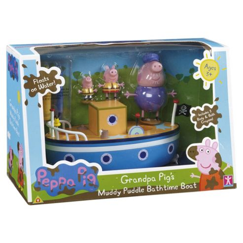 Peppa Pig Grandad Pig's Muddy Puddle Bathtime Boat