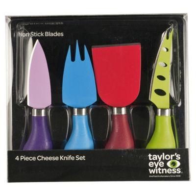 Taylors Eye Witness 4 piece Non-stick Cheese Knife Set