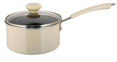 Prestige 20cm Non-stick Saucepan, Almond