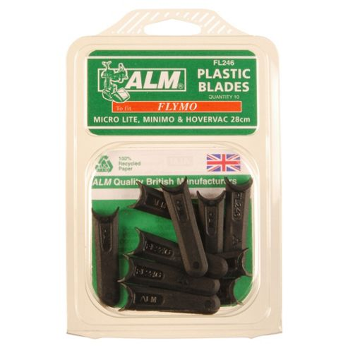 ALM Plastic Hover Mower blades for Flymo Hover Mowers, 3 pack