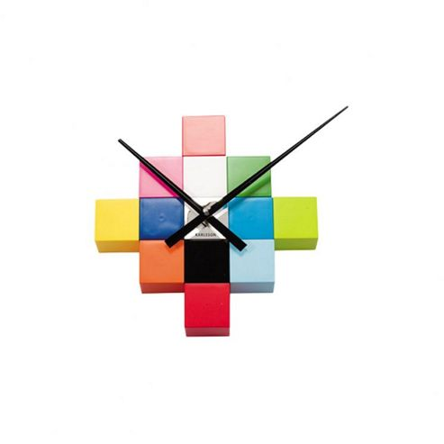 Karlsson DIY Cubic Wall Clock in Multi-colour