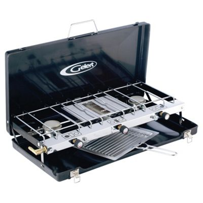 Gelert Compact Double Burner with Grill