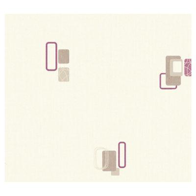 Arthouse Adelphi block plum wallpaper