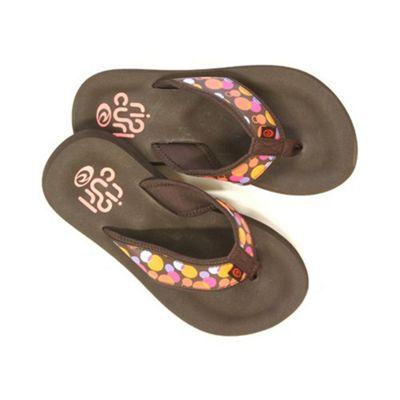 Rip Curl Bubble Coffee Bean Girls Sandals