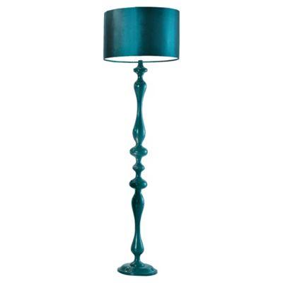 Tesco lighting spindle floor lamp teal