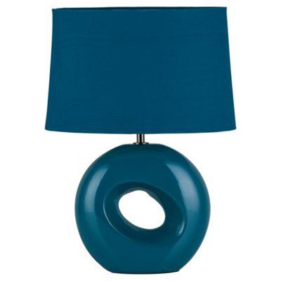 Tesco Lighting Calypso Table Lamp Teal