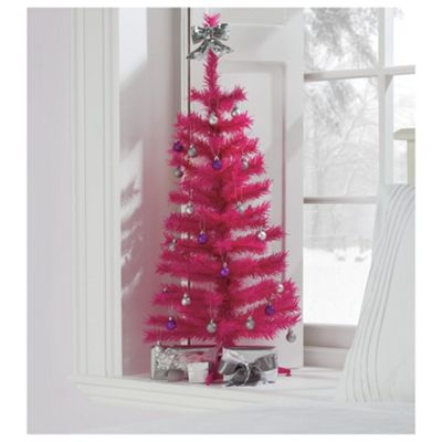 Tesco 3ft Pink Christmas Tree
