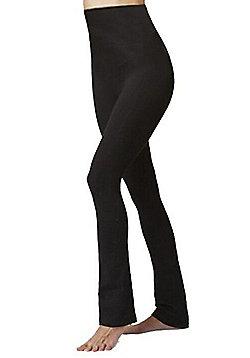 Women's Slimming Tummy Control Shapewear High Waist Slim Fit Trouser Black - Regular Length - Black