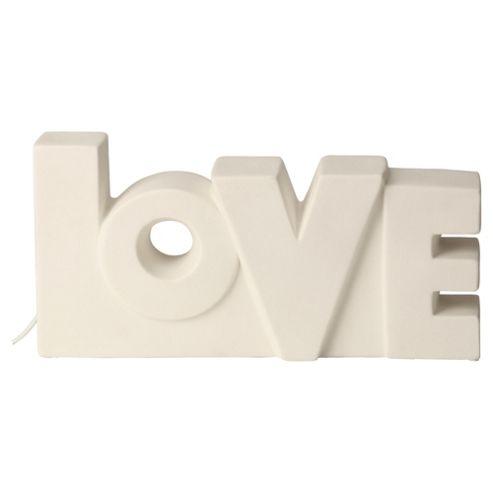 Tesco Lighting Love Words Ceramic Lamp
