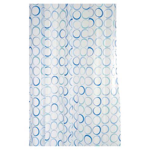 Croydex Shower Curtain Blue Rings