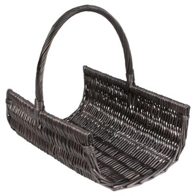 Wicker Log Basket, Chocolate