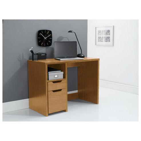 Seattle Straight Desk, Oak Effect