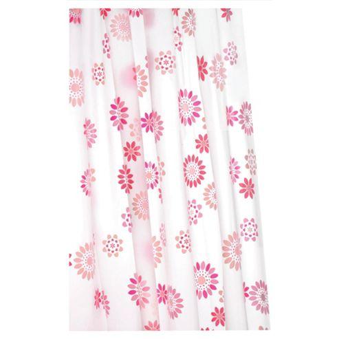 Croydex Anti-Bac Vinyl Shower Curtain Pop Flowers
