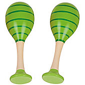 Bigjigs Toys Snazzy Maracas (One Pair - Green)