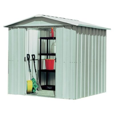 Yardmaster 6'1x7'5 Silver Metal Apex Shed with floor support frame