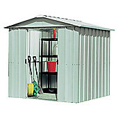 Yardmaster Silver Metal Apex Shed with floor support frame, 6x8ft