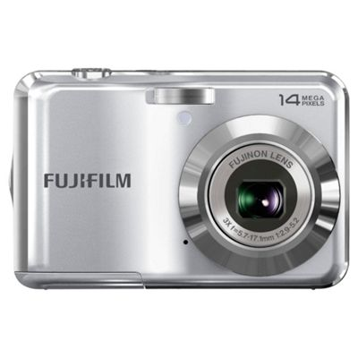Fujifilm FinePix AV200 Digital Camera, Silver, 14MP, 3x Optical Zoom, 2.7 inch LCD Screen