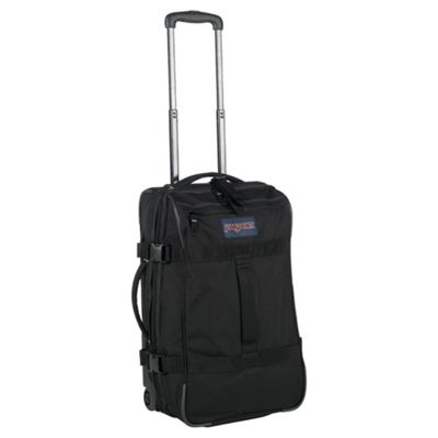 Jansport Footlocker 2-Wheel Duffle Bag Suitcase, Black
