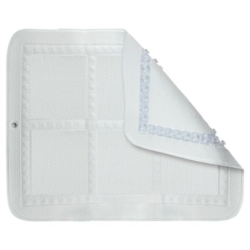 Croydex Anti-Bac Showertray Bathmat White
