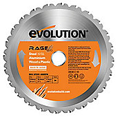 Evolution RAGE 210mm Multipurpose TCT Blade (Orange)