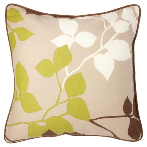 Tesco Set Of 2 Bold Leaf Cushion Covers, Chocolate