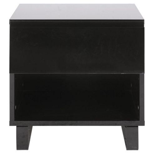 Urban Bedside Table, Black
