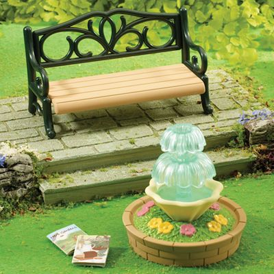 Sylvanian Families - Ornate Garden Bench