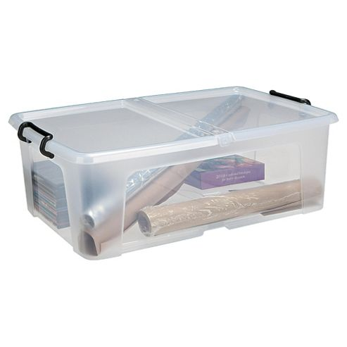 Strata 50L Plastic Stackable Storage Box with Lid