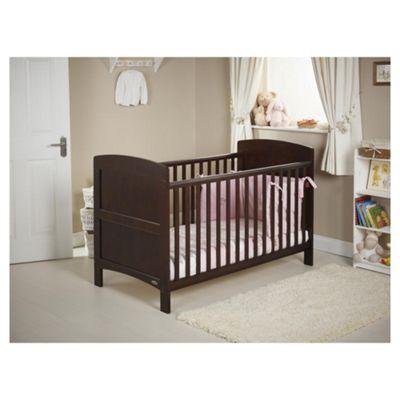 Obaby Grace Cot Bed Bundle, Walnut & Pink
