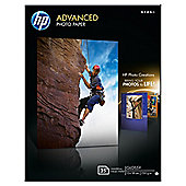 HP Advanced Glossy Photo Paper - 25 sht/13 x 18 cm borderless