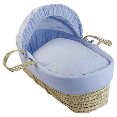 Clair de Lune Starburst Moses Basket - Blue