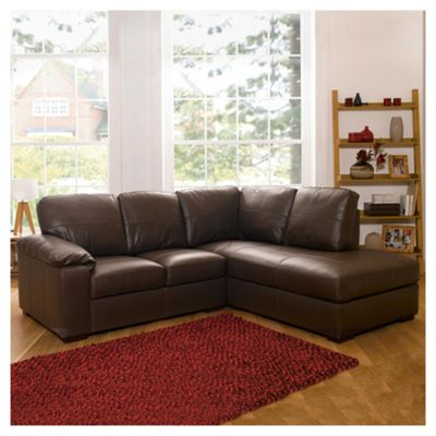 Buy Ashmore Leather Corner Sofa, Brown Right Hand Facing ...