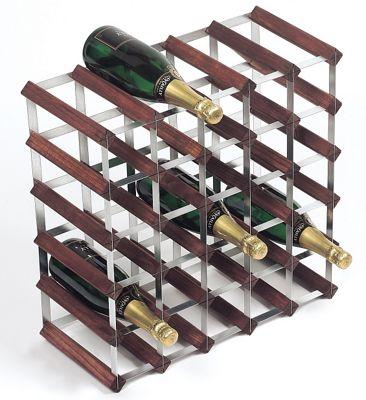 George Wilkinson 30 Bottle Wine rack Kit - Stained Pine / Galvanised Steel