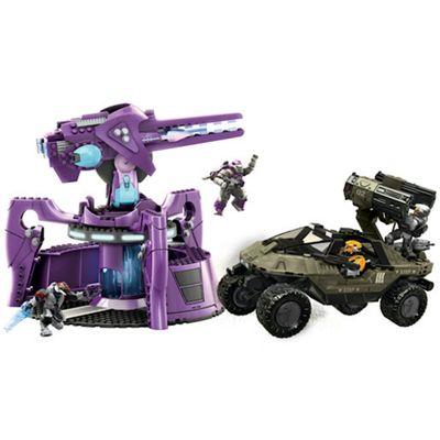Mega Bloks Halo Wars UNSC Rockethog vs Anti Aircraft Gun