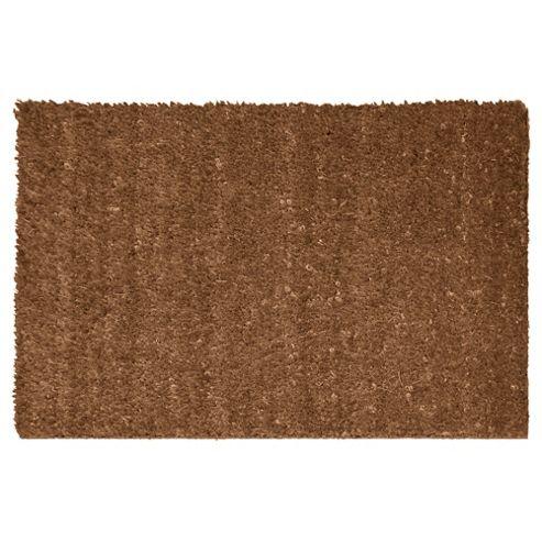 Tesco Jumbo Plain 100% Coir PVC Mat