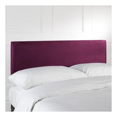 Seetall Mittal Single Upholstered Headboard, Aubergine