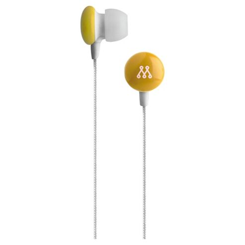 Muse The Smarty In-Ear noise isolating Headphones Yellow MU-SMAY