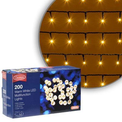 200 led warm white chaser christmas lights