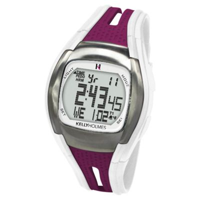 Kelly Holmes Sports Watch/Heart Rate Monitor, Purple