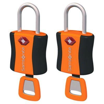 Samsonite TSA Air Key Locks, Orange Set of 2