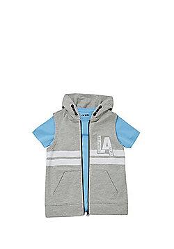 F&F LA Slogan Hoodie and T-Shirt Set - Grey