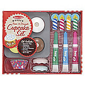 Melissa & Doug Bake & Decorate Wooden Cupcake Set