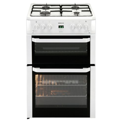 Beko BDVG694WP 60cm Gas Cooker with Double Oven
