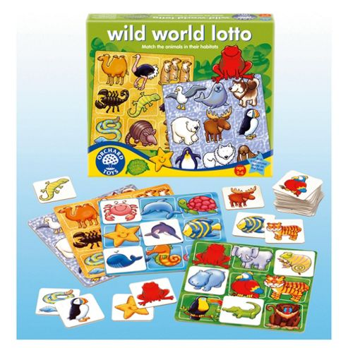 Orchard Toys Wild World Lotto Game