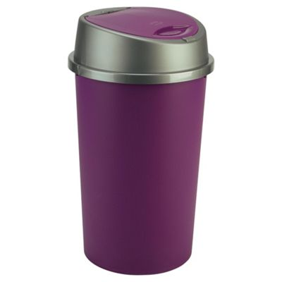 45L plum touch top bin
